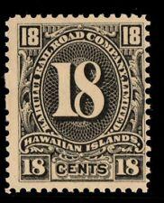 Railroad 18c Hawaii United States mint no gum