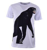 MOSCHINO T-Shirt mit Affen Print und Logo Weiß Monkey Print White 04457