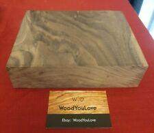 🍁 Hardwood Walnut Off Cut Block L 14.9 cm x W 19.4 cm x D 4.9 cm  (2118 W8)