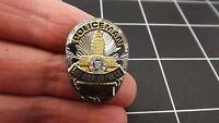 Silver & Gold Tone LOS ANGELES Police POLICEMAN Shield Lapel Pin