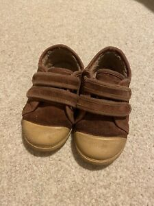 Zara Baby Shoes Eur 22 UK 5.5 Trainers Suede Brown