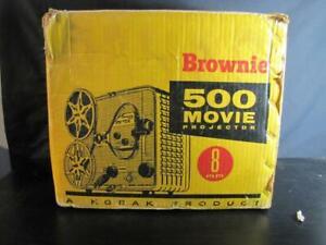 Vintage 1950's Kodak Brown 500 Movie Projector - with Original Box