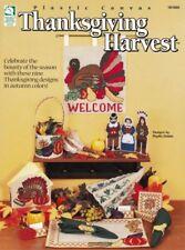 Thanksgiving Harvest Plastic Canvas Turkey Pilgrim Pumpkin Leafs Indian Basket