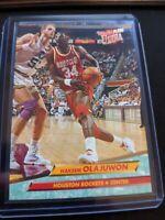 1992-93 Fleer Ultra Basketball #72 Hakeem Olajuwon Houston Rockets HOF Mint
