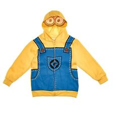 NWT Despicable Me Minion Boys Halloween Costume Hooded Sweatshirt Hoodie Sz 6/7