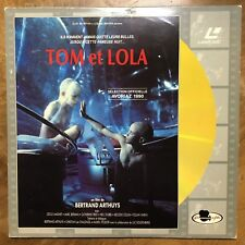 rare ! Laser Disc Laser Disque Film Tom et Lola Bertrand Arthuys 1989 laserdisc
