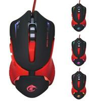 Hot 6D LED Optical USB Wired 3200 DPI Pro Gaming Mouse For Laptop PC Game UK