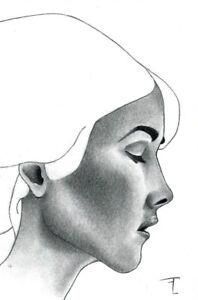 Dessin original crayon sur papier - signé - Artiste  FLAVIEN COUCHE