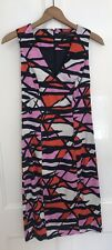 FRENCH CONNECTION Pink Patterned Stretch Dress-UK Size 10/US 6/EU 38-Exc. Cond.