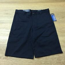 boys nautica 16 husky uniform stretch navy blue shorts