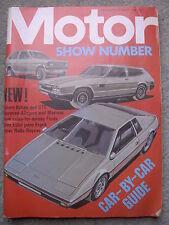 Motor (18 October 1975) Reliant Scimitar GTE, Renault 30TS, Motor Show special