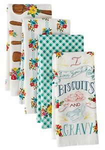 THE PIONEER WOMAN I LOVE BISCUITS AND GRAVY 4 PC TOWEL SET NEW