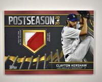 2021 Series 1 Postseason Performance Relic Red #PPR-CK Clayton Kershaw /25