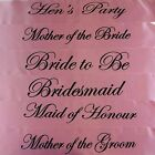 HENS NIGHT BRIDAL SASH SASHES BRIDE BRIDESMAID MAID OF HONOUR LIGHT PINK & BLACK