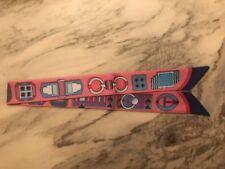 Tuch Bandeau Für Taschenhenkel Taschenanhänger Ketten Gürtel Rosa Blau Neu
