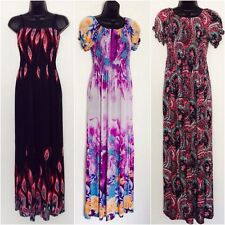 Ladies Women Long Printed Summer Evening Casual maxi dress Size 8 10 12 14 & 16