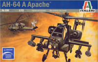 MODEL HELICOPTER iTALERI AH-64A Apache  1:72 SCALE