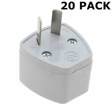 MULTI 20 PACK, UK TO AU TRAVEL ADAPTER EU US TO AUSTRALIA 3 PIN TO 2 PIN PLUG
