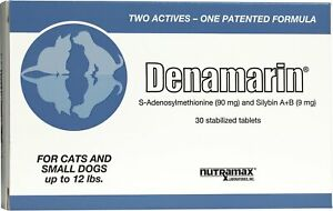 Nutramax Denamarin Tablets for Cats & Dogs - Pack of 30