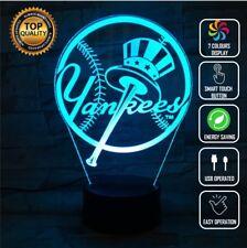 New Yankees Jersey MLB Baseball 3D Acrylic LED 7 Colour Night Light Touch Lamp