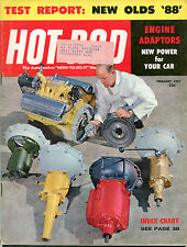 Hot Rod Magazine February 1957 ML Engine Adaptors New Olds '88' GD 122115jhe