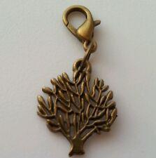 Bronze Tone Tree of Life Family Tree Clip on Bead Dangle for Euro Charm Bracelet