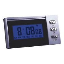 ARGENTO ELEGANTE E Nero LCD sveglia, calendario, cronometro & backlight rd120
