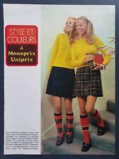 1965 French School Girls Photo Fashion Vintage Print Advertising Art