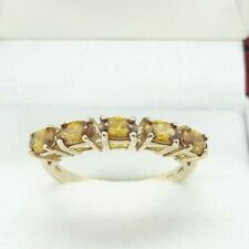 9ct Yellow Gold 1.20cts Citrine 5 stone Ring