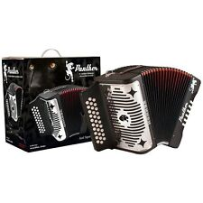 NEW Hohner Panther 31 Button GCF Sol BLACK Diatonic Accordion - SHIPS WORLDWIDE