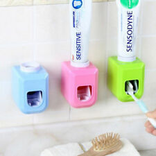 Automatic Toothpaste Dispenser Toothbrush Holder Wall Mount Stand Home Bathroom