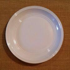"Mainstays ARTIC WHITE Stoneware Embossed Rings Rim 2 DINNER PLATES 10 3/4"" EUC"