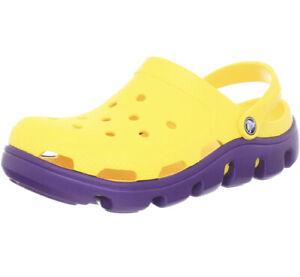 Crocs Unisex 11991 Duet Sport Clog Mens Size 8 Womens Size 10 Yellow Purple