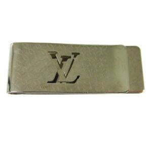 LOUIS VUITTON Pansu Bie Champs Elysees Money Clip Silver M65041 NR12994h