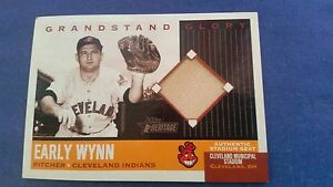 EARLY WYNN 2002 TOPPS HERITAGE ( STADIUM SEAT RELIC ) CARD CLEVELAND INDIANS