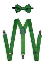Glitters Suspender and Bow Tie Set for Adults Men Women Teens (USA Seller)