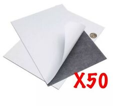 X50 0.4mm A4 Magnetic Magnet Sheets Sticky Self Adhesive Hand Craft Fridge