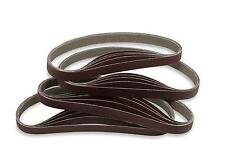 1/2 X 18 Inch 100 Grit Aluminum Oxide Air File Sanding Belts, 20 Pack