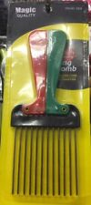 AFRO COMB METAL TEETH FOLDING/FOLDABLE COLOUR HANDLE HAIR BRUSH COMBS NEW