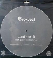 PROJECT PLATTENTELLERAUFLAGE  LEATHER-IT LEDERMATTE GREY  LEATHER MAT