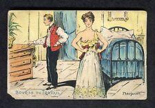 "c1910 Illustrated Young Man & Courtesan ""Job Exchange"""