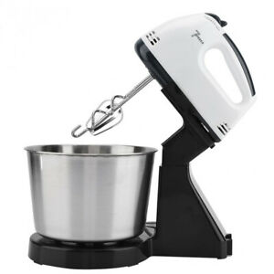 Top Electric Hand Mixer Handheld Stand Mixers For Baking W/ Bowl 2 Beaters Whisk