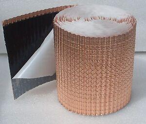 Anti Moos strukturiertes Kupferband / selbstklebend / Moos Stop / Dachentmoosung