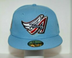 ANAHEIM ANGELS 50th ANNIVERSARY SKY BLUE EDITION NEW ERA FITTED HAT - SIZE 7 1/4