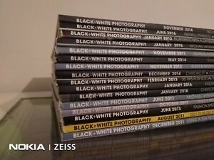 16 Black+White Photography Magazine Lot Bundle