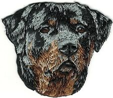 """2"""" x 2 1/4"""" Rottweiler Dog Breed Portrait Embroidery Patch"""