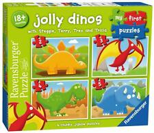 Ravensburger 07289 My First Puzzle Jolly Dino 4 in 1 Box Childrens Jigsaw Puzzle