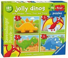 RAVENSBURGER 07289 il mio primo PUZZLE JOLLY DINO 4 in 1 BOX per bambini Puzzle