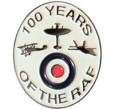 NEW 1918-2018 100 Years of RAF Royal Air Force WW1 WW2 Spitfire Enamel Badge