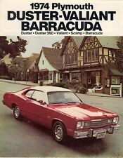 Plymouth duster valiant scamp barracuda 1974 usa market sales brochure